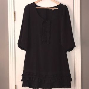 Tops - Charcoal Blouse/Tunic with Ruffle accents